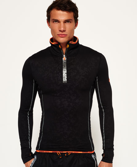 Sports Athletic Zip Henley Top