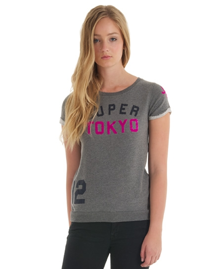 Superdry Super Tokyo Slouch Crew Dk Grey