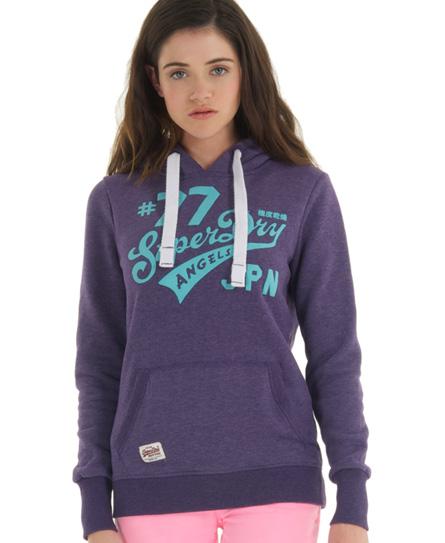 Superdry Saints Hoodie Purple
