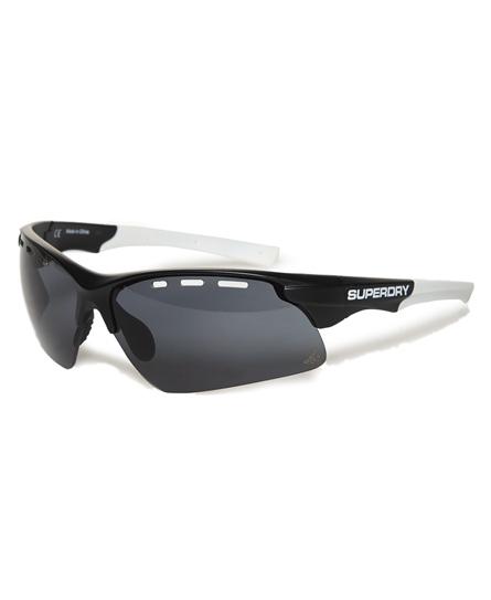 matt schwarz weiß Superdry Allwetter-Sportbrille