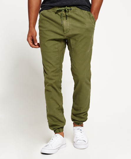 custom khaki Superdry Surplus Goods Low Rider Jogginghose