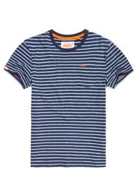 Superdry Gestreiftes Rustic T-Shirt mit Tasche