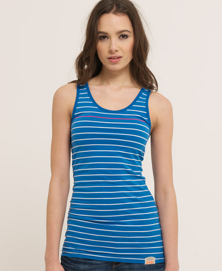 Superdry Stripey Classic Tank Blue