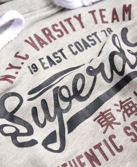 Superdry NY Varsity Team Crop Hoodie