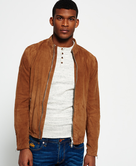 Slim Suede Harrington Jacket