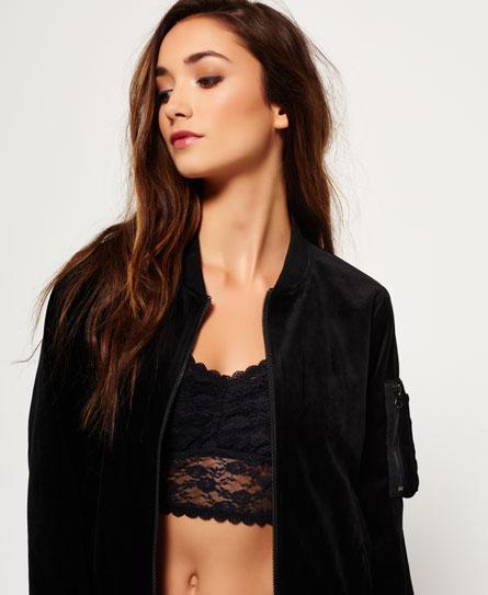 superdry blouson bombardier velvet vestes et manteaux pour femme. Black Bedroom Furniture Sets. Home Design Ideas