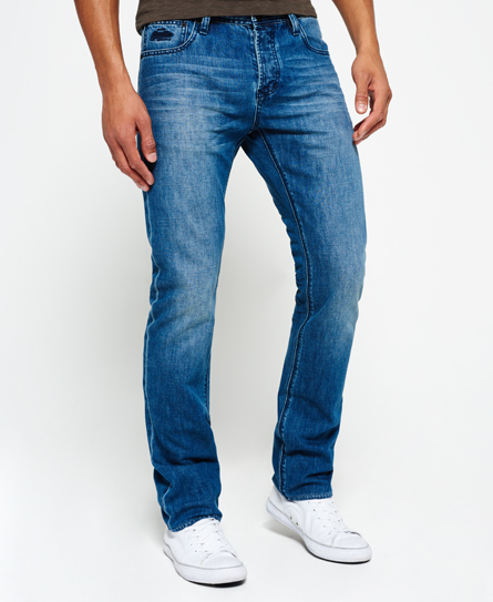 azul intenso Superdry Vaqueros Officer Straight