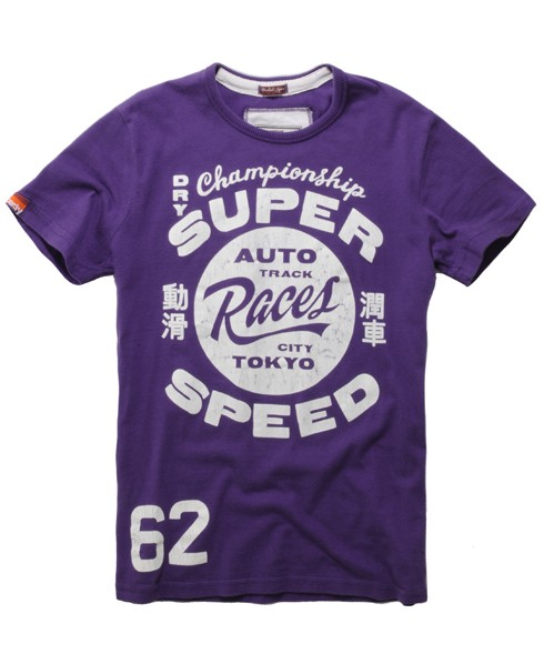 Superdry Auto Speed T-shirt Purple