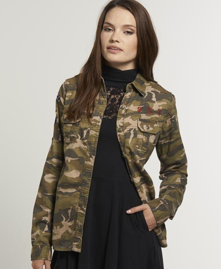 Superdry On Duty Military Shirt Green