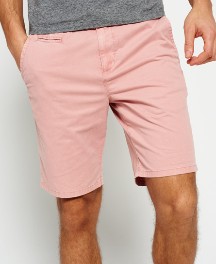 flamingo pink Superdry International Sun Scorched Chino Shorts