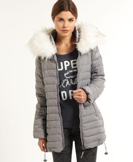 Superdry womens jacket grey