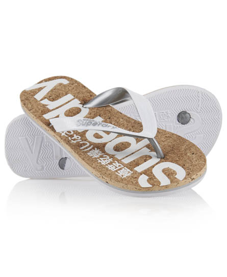 Superdry Cork Flip Flop White