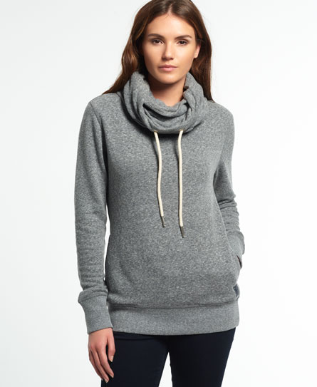 snowy charcoal Superdry Nordic Funnel Neck Top