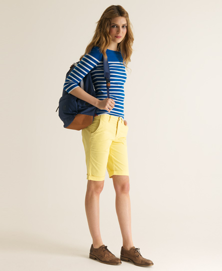 Superdry Tomboy Chino Shorts Yellow