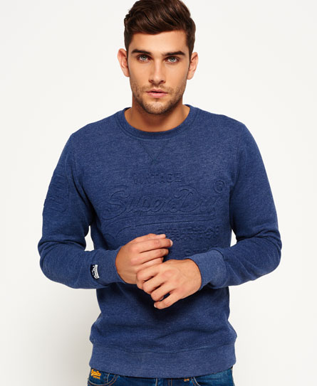 superdry sweatshirt store embossed crew neck top herren. Black Bedroom Furniture Sets. Home Design Ideas