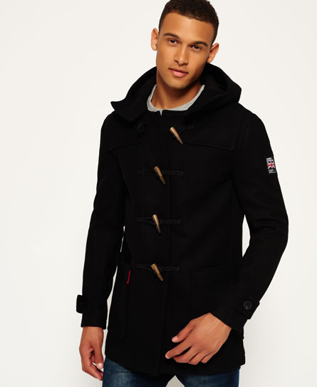 Mens - Rookie Duffle Coat in Black | Superdry