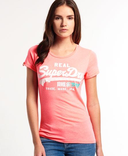 neon pink marl Superdry Vintage Logo T-shirt