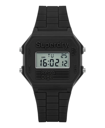 grey Superdry Retro Digi Colour Block Watch