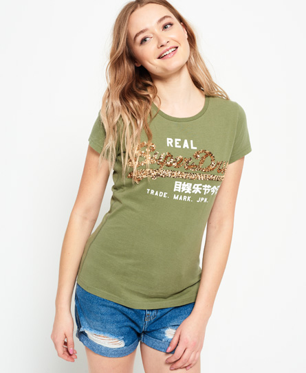 Vintage Logo Sequin T-Shirt