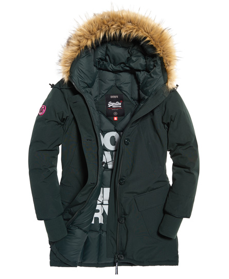 superdry rookie parka mit daunen damen jacken m ntel. Black Bedroom Furniture Sets. Home Design Ideas