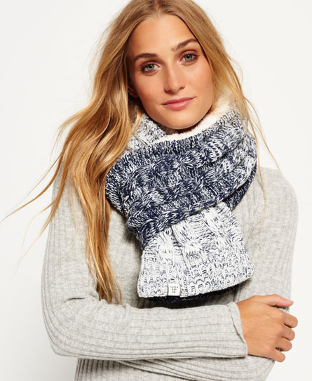 Superdry Ombre Clarrie Scarf Navy
