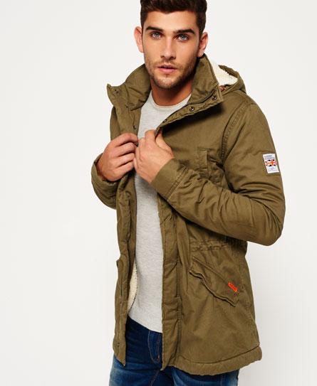 Mens - Rookie Military Parka Jacket in Deepest Army | Superdry
