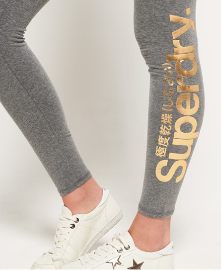 Superdry Core leggings med folielogga