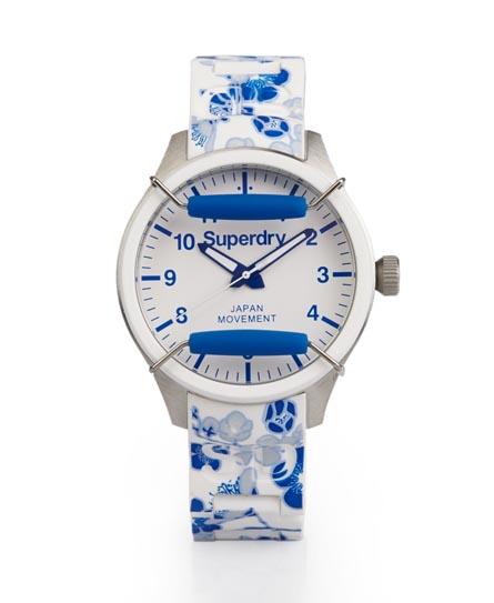Superdry Scuba Floral Watch Blue