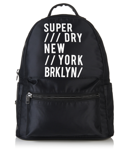 black/white Superdry 90's Sport Backpack