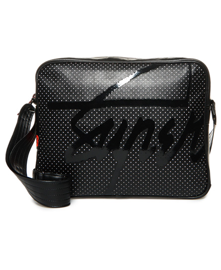 svart Superdry Perforated Kayem Messenger-bag
