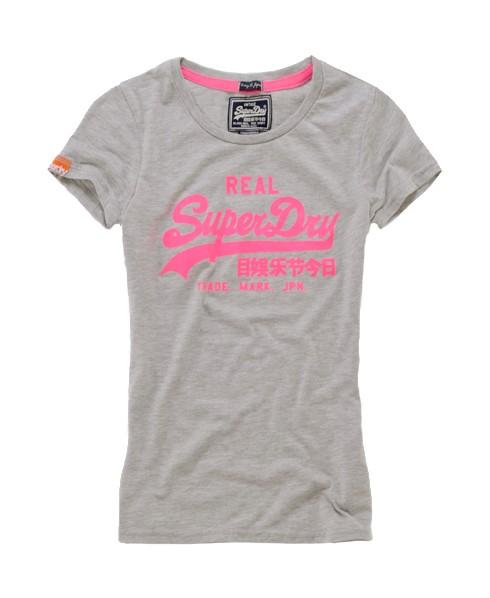 Superdry Vintage Entry T-shirt Light Grey