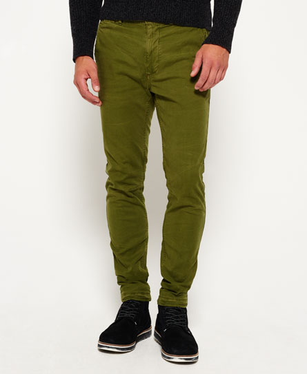 nordic green Superdry Pantaloni a vita bassa in cotone Surplus Goods