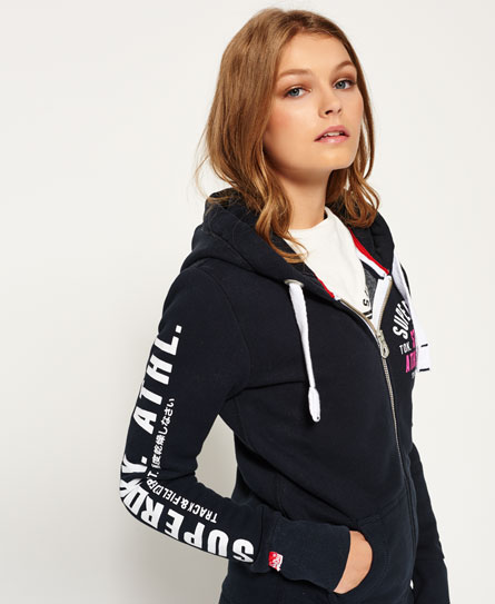 Superdry Ladies Track & Field Zip Hoodie Eclipse Navy