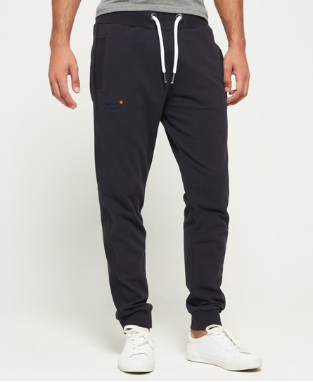 blauschwarz Superdry Orange Label Lite Slim Jogginghose