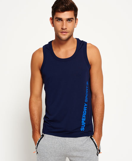rich navy Superdry Canotta Sports Active Relaxed