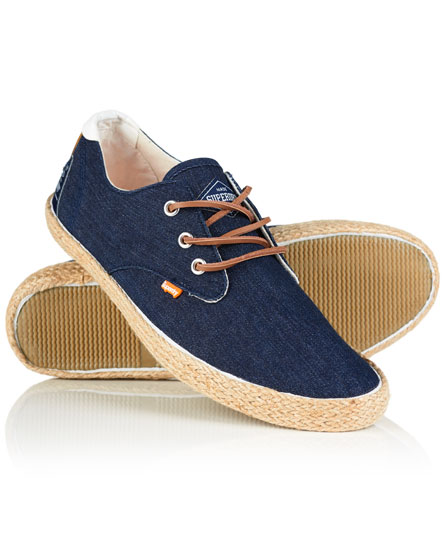 raw denim Superdry Skipper schoenen