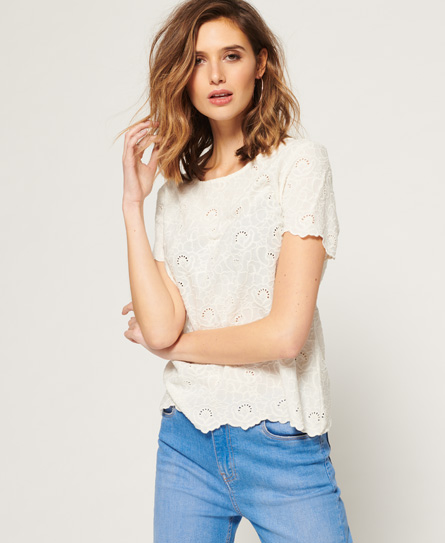 Superdry Lilah Schiffli T-Shirt