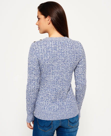 Superdry Croyde Twist Cable Crew Neck Jumper