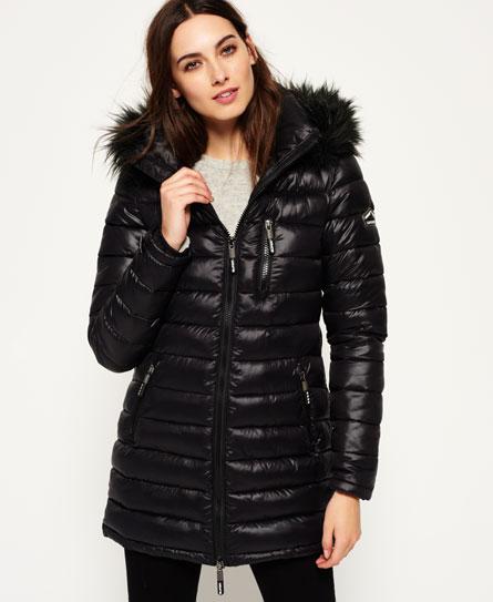 womens fuji demi jacket in slick black superdry. Black Bedroom Furniture Sets. Home Design Ideas