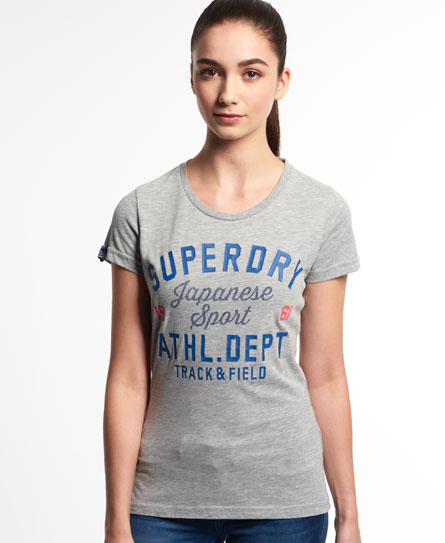 womens track state entry t shirt in grey marl superdry. Black Bedroom Furniture Sets. Home Design Ideas
