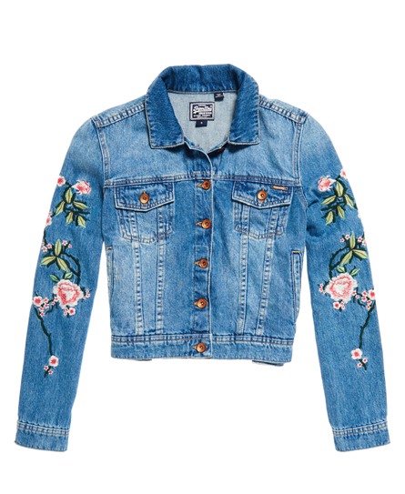 Superdry Embroidered Sleeve Denim Jacket