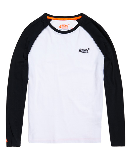 Superdry Orange Label Baseball T-shirt met lange mouwen