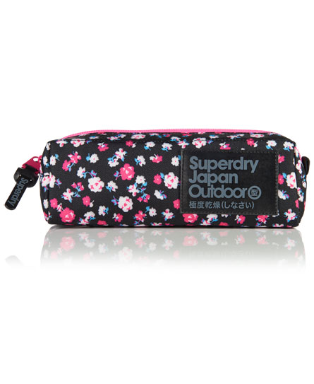 Womens Dewberry Pencil Case In Black Ditsy Superdry
