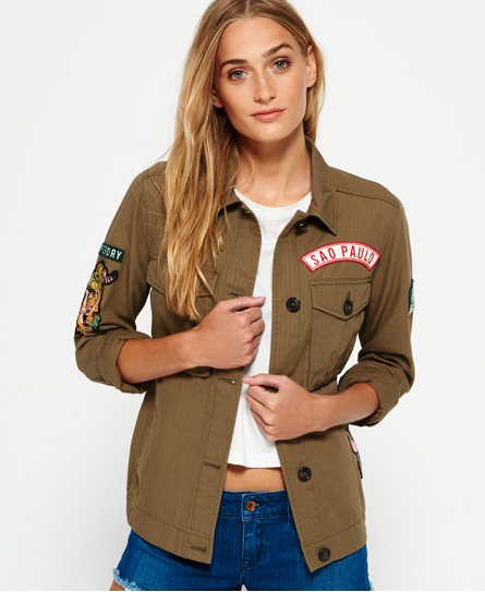 Superdry Rookie Patch Jacket Green