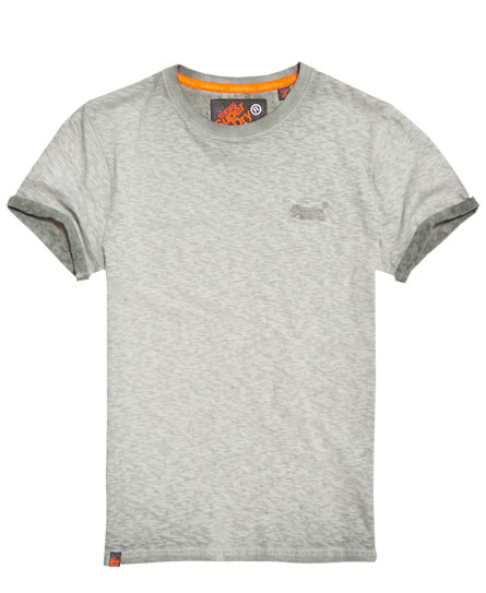 monument grey Superdry Low Roller T-shirt