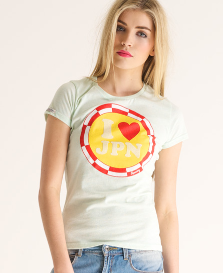 Superdry Pin Badge T-shirt Green