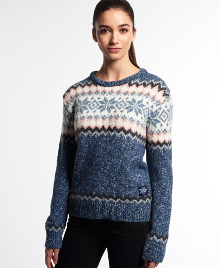 Superdry Fairisle Snowflake Jumper - Women's Sweaters