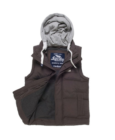 Superdry Academy Vest Dark Grey