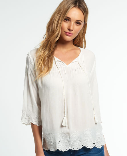 Comfortable Superdry Praire Schiffli Blouse Buy Online Cheap Choice Cheap Online Outlet Great Deals Cheap Low Price aa35YtOwNw