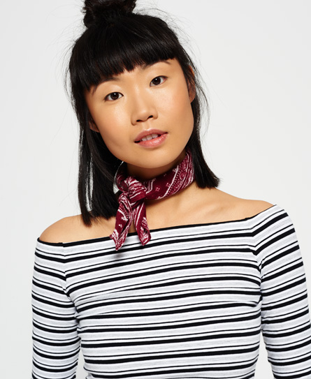 Superdry Bohemia Scarf Red